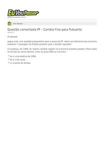 Alex_Mendes-Questao_comentada_PF_-_Cambio_Fixo_para_flutuante