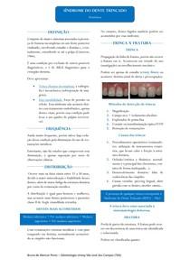 Resumo - Síndrome do Dente Trincado