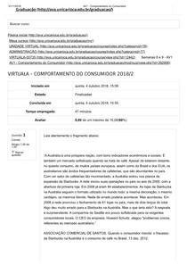 PAC AV1 e AV2  UNICARIOCA- Comportamento do Consumidor (part1)