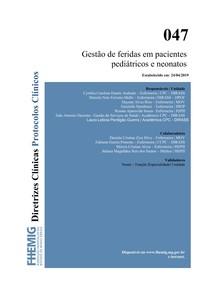 047 - Gestao de Feridas em Pacientes Pediatricos e Neonatos