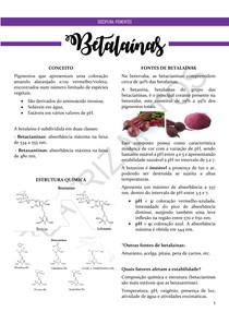 Betalaínas - Resumo (Pigmentos)