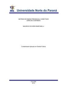 Contabilidade Aplicada - 5º 6º semestre