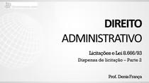 Dispensa de Licitação - Apresentação (parte 2)