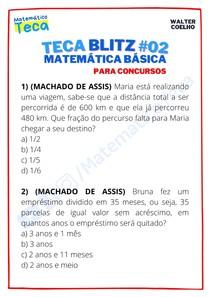 Teca blitz #02 - Questões de Matemática Básica para Concursos