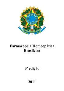 Farmacopeia Homeopática Brasileira (3ª Edição - 2011)