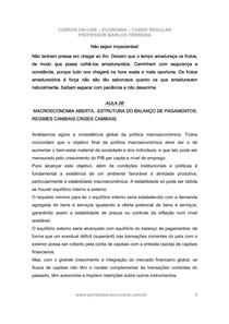 Economia - Aula 06 - Cambio e BP