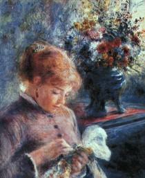 Renoir -Young Woman Sewing