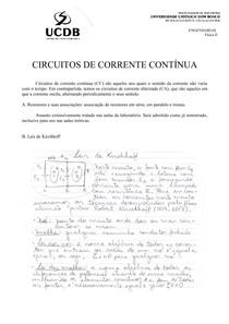 Circuitos CC Notas de aulas