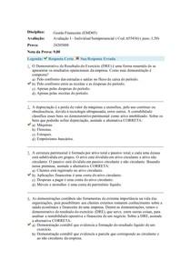 Avaliação I - Individual Semipresencial Cod 655436
