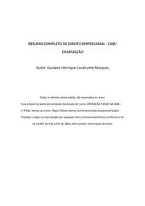 RESUMO COMPLETO DE DIREITO TRIBUTÁRIO - OAB/ GRADUAÇÃO