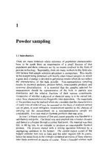 Powder sampling