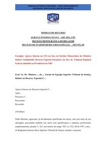 Modelo Agravo Interno - Pedro Baretto
