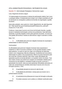 APOL ADMINISTRAÇÃO PEDAGÓGICA