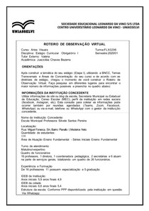ROTEIRO DE OBSERVAÇÃO VIRTUAL - PARTE 2