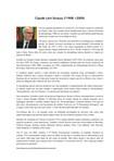 Vida e obra de Claude Lévi Strauss