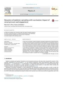 [Artigo] Dinâmica de epidemias com vacinação: impacto da pressão social e engajamento