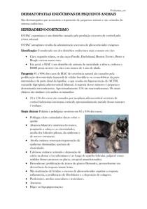DERMATOPATIAS ENDÓCRINAS EM PEQUENOS ANIMAIS