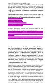 EXERCÍCIO DE ASSISTÊNCIA FARMACÊUTICA