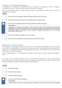 APOL 4   Análise Econômica e Administração Estratégica