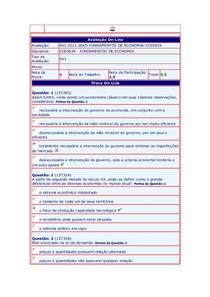 Fundamentos de Economia - (38) - AV1 - 2012.2