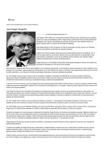 a938e8bef32 Jean Piaget Biografia Portal Educação - Psicologia
