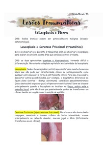 Leucoplasia x Ceratose Friccional (traumática)