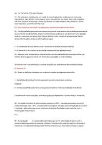 AV 02 CIENCIA DOS MATERIAIS