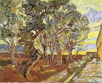 Vincent Willem van Gogh-O Jardim-de-Saint-Paul-Hospital-W