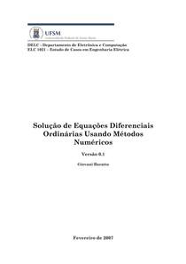 solucao EDO pelos metodos Euler Runge Kutta