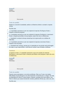 UNIDADE 9 - PSICOPATOLOGIA