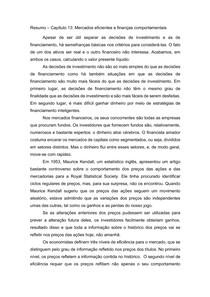 Resumo Capítulo 13 - Princípios de Finanças Corporativas - Brealey, Myers e Allen