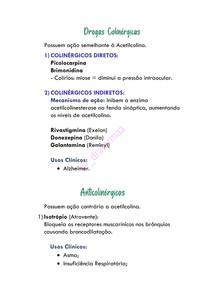 Drogas Colinérgicas e Anticolinérgicas