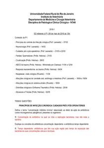 Estudo Dirigido - Patologia Cirúrgica - MEDVET (RESPONDIDO)