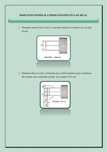Dimensão nominal e dimensão efetiva ou real