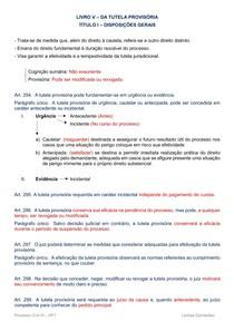 Resumo  - Tutela Provisória (arts. 294-304)