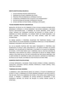 DIREITO CONSTITUCIONAL RESUMO G1