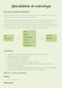 Aplicabilidade da embriologia