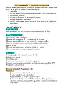 Puericultura - Medicina da Família e Comunidade (MFC)