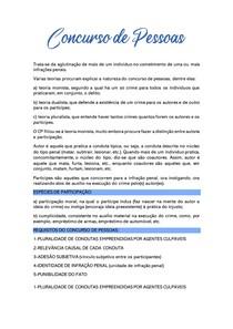 RESUMO CONCURSO DE PESSOAS