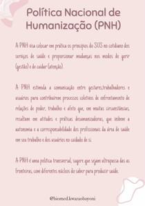 Política Nacional de Humanização - PNH