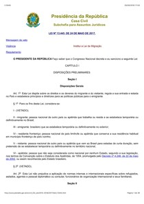 24- Lei 13 445 - Lei de Migração