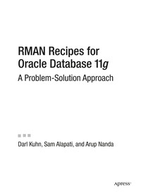 Oracle11g APress RMAN Recipes for Oracle Database 11g A Prob