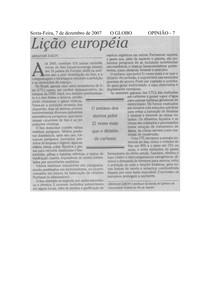 2007AZ-OGLOBO-LicaoEuropeia
