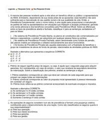 AVALIAÇÃO FINAL (OBJETIVA) - NOÇÕES DE ATUÁRIAS