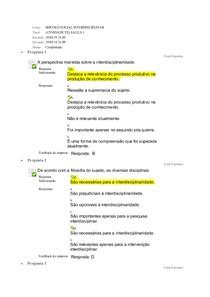 ATIVIDADE SERVIÇO SOCIAL INTERDISCIPLINAR UNIDADE  I