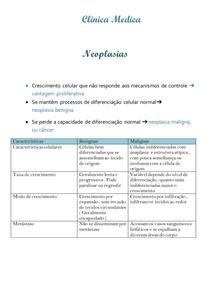 Clinica Medica -Neopasias
