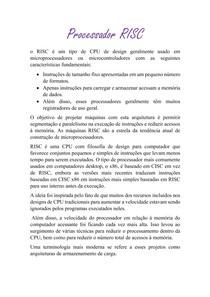 Processador RISC