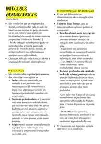 INFECÇÕES ODONTOGÊNICAS- ANAT aula 1 e 2