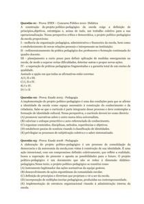 PROVA/APOL PPP PROJETO POLITICO PEDAGOGICO UNINTER 100