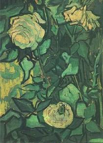 Vincent Willem van Gogh-Roses-e-Beetle